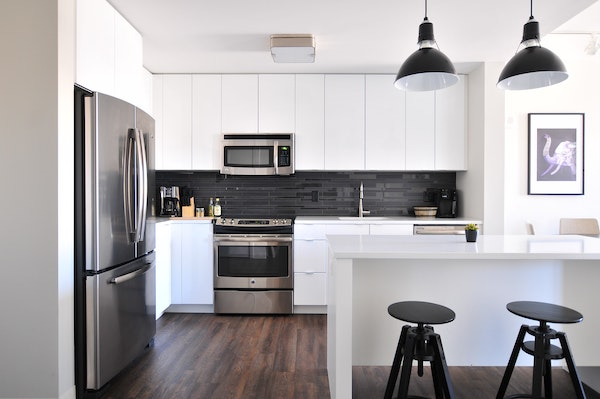 a white modern kitchen